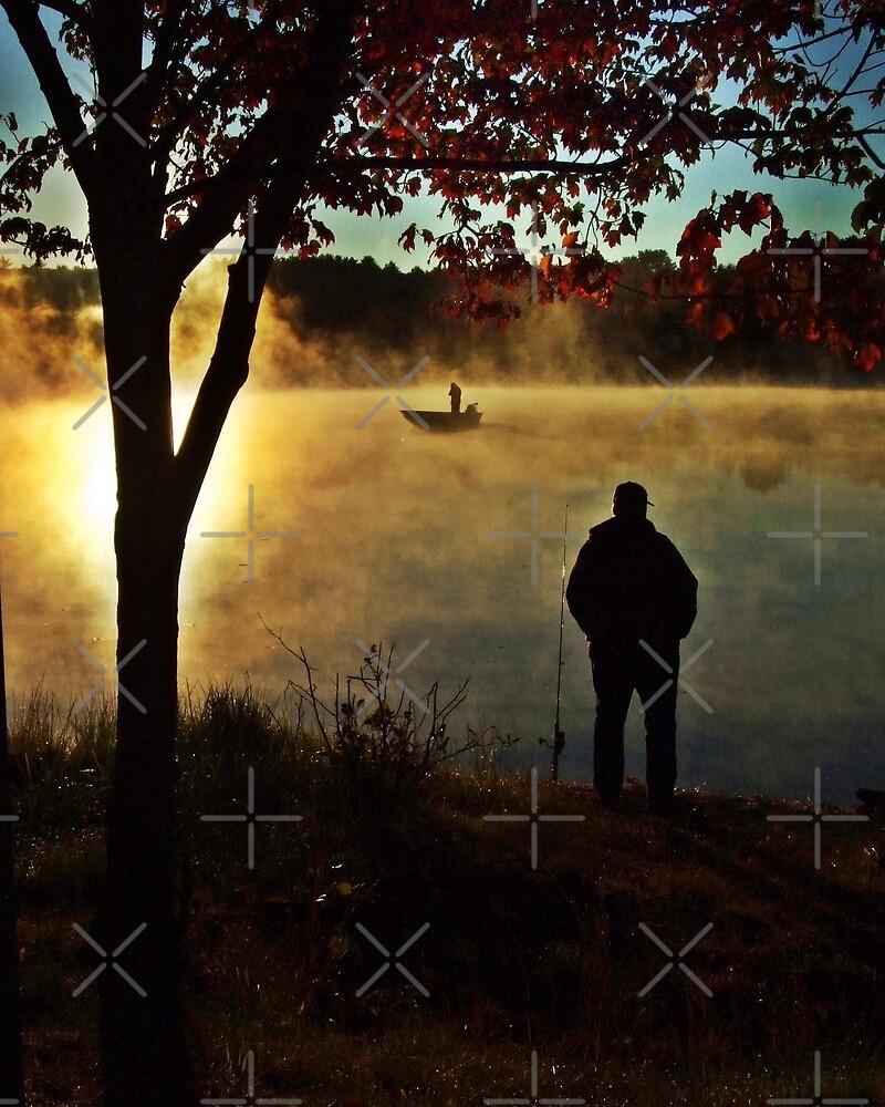 Fishermen On Pratt Pond by BavosiPhotoArt