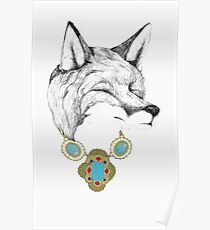 Fox Necklace Poster