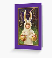 Easter Card-Child in Bunny Suit Greeting Card