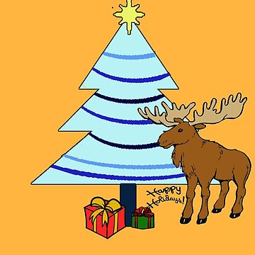 Happy Holiday Moose by abigailnicole04
