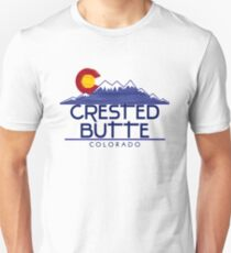 Crested Butte Colorado wood mountains Unisex T-Shirt