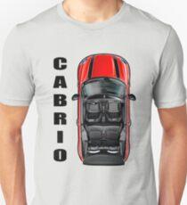 Mini Cooper Cabrio T-Shirt in Red Unisex T-Shirt