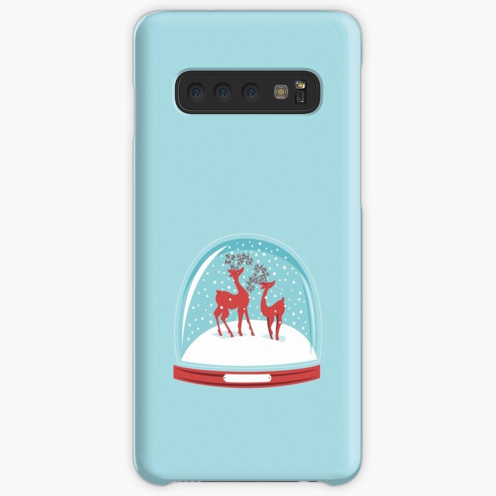 Snow-globe Couple Deer Samsung Galaxy Snap Case