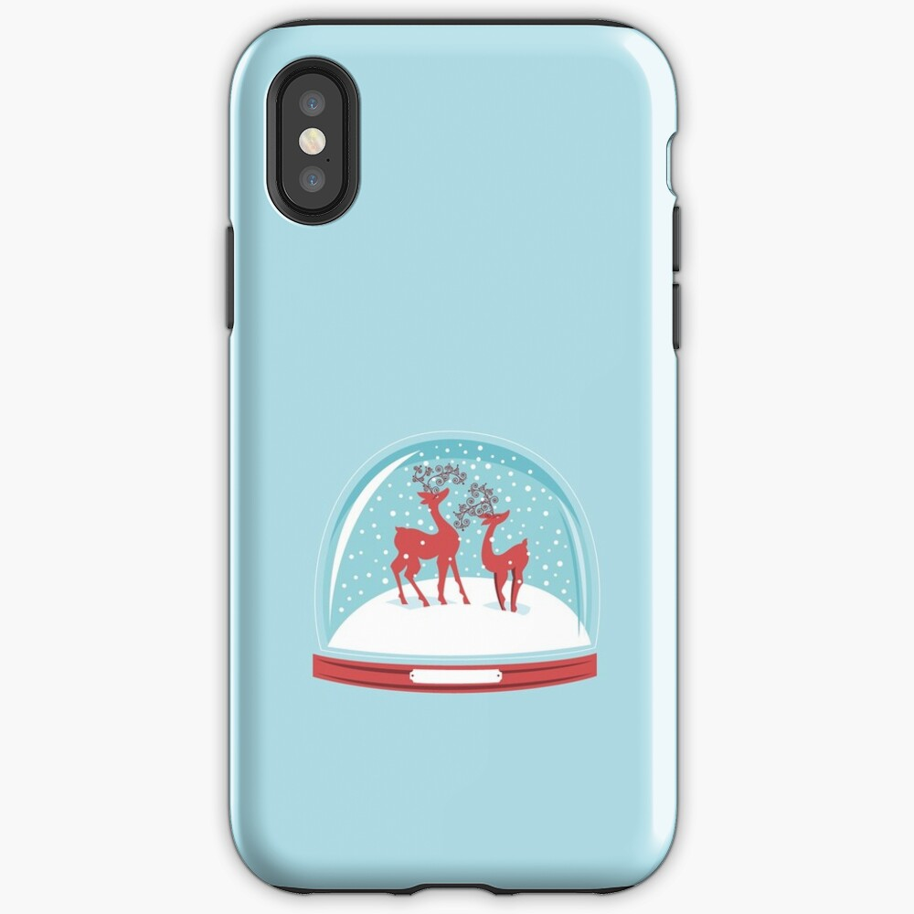 Snow-globe Couple Deer iPhone Case & Cover