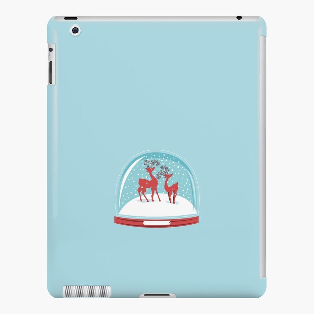 Snow-globe Couple Deer iPad Case & Skin