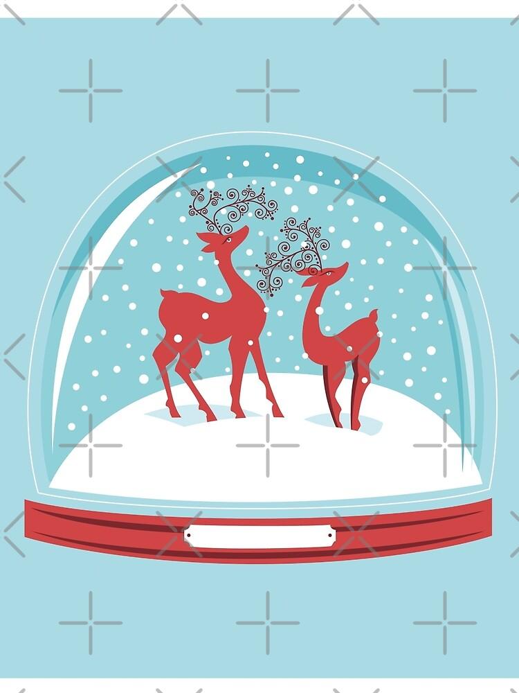 Snow-globe Couple Deer by rusanovska
