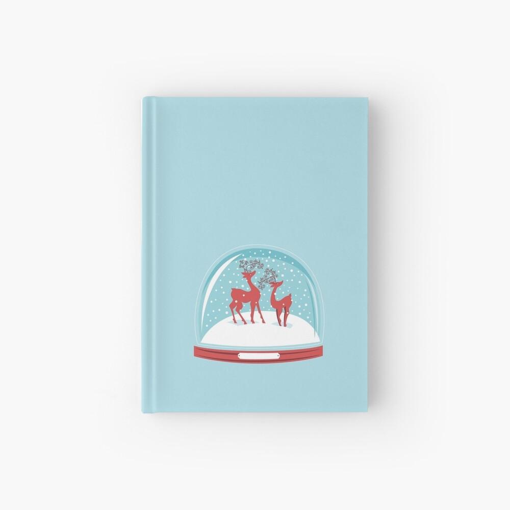 Snow-globe Couple Deer Hardcover Journal