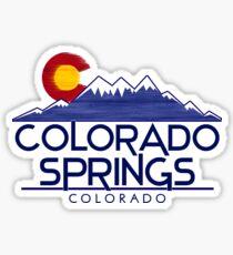 Colorado Springs Colorado wood mountains Sticker