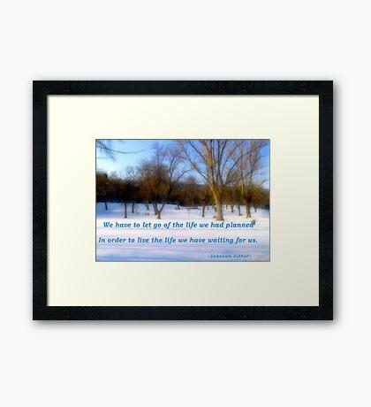 Soft Bliss Framed Print