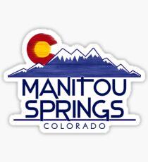 Manitou Springs Colorado wood mountains Sticker