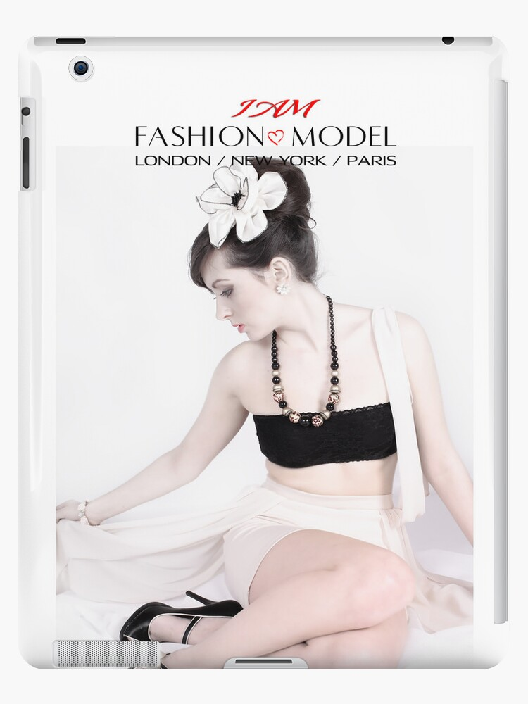 """ I AM "" Fashion Model ( English Rose ) Designer iPad Case by Love Through The Lens"