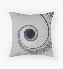 Tulip Staircase, Queens House, Greenwich, England Throw Pillow