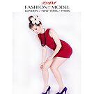 """"""" I AM """" Fashion Model ( Scarlett ) Designer iPad Case by Love Through The Lens"""