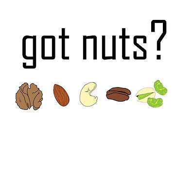 got nuts? (row of nuts) by JoyVick