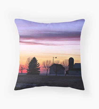 Rainbow Farm Throw Pillow