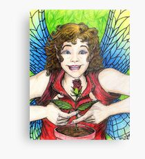 Rose Fairy Metal Print