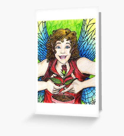 Rose Fairy Greeting Card
