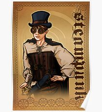 Steampunk Lady Poster