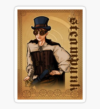 Steampunk Lady Sticker