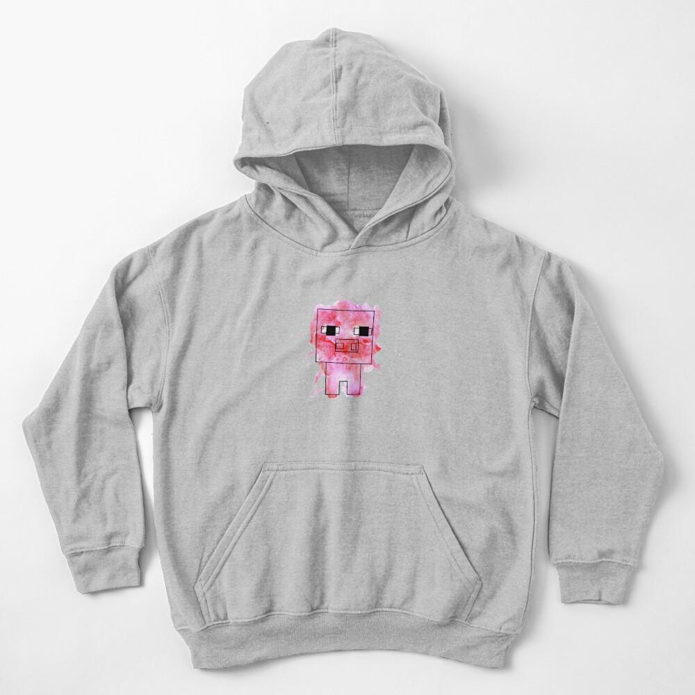 Splatter Pig - Minecraft inspired Kids Pullover Hoodie