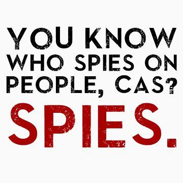 SPIES SPY, CAS! (Winchester Logic) by graceisNERD