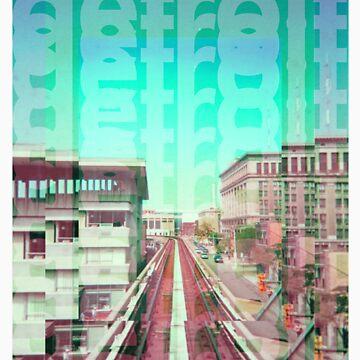 Detroit Monorail by ashurcollective