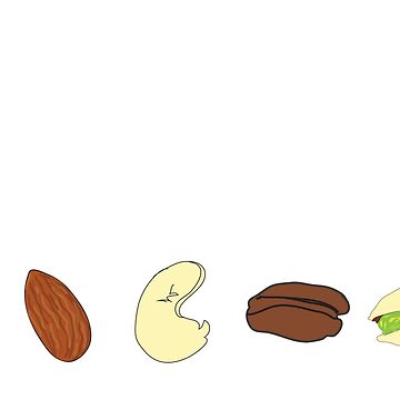 got nuts? (row of nuts) <white text> by JoyVick