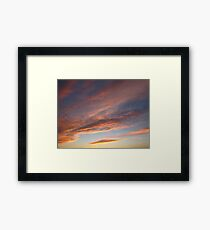 Peach waves Framed Print