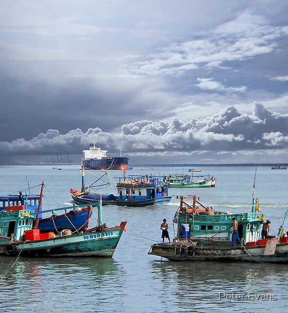 Vietnamese Fishing Boats by Peter Evans