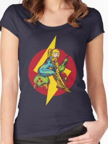 Femme Fatale Hunter - Red Edition Women's Fitted Scoop T-Shirt