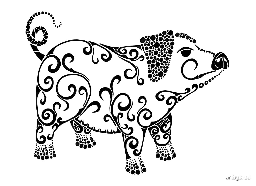 Pig Love by artbybrad