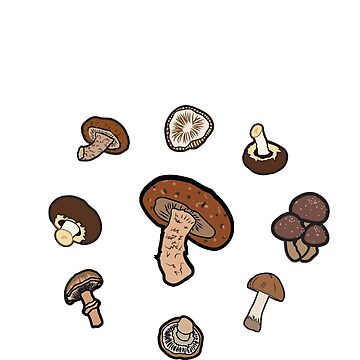 eat shiitake. (mushrooms) <white text> by JoyVick