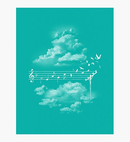 Music Gives Wings Photographic Print