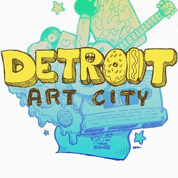 Detroit Art City by ashurcollective