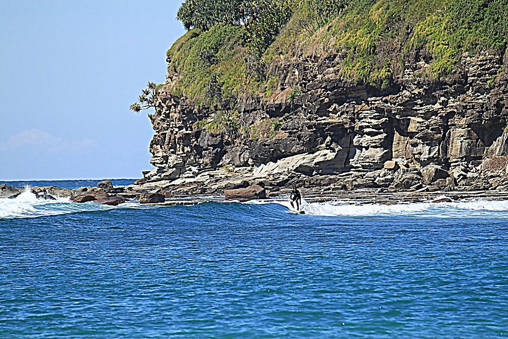 Moffat Beach Surfer by Jenelle  Irvine