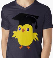 ღ°ټGorgeous Blue Eyed Nerd Chick on a Graduation Cap Clothing& Stickersټღ° Mens V-Neck T-Shirt