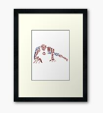 With Great Power Framed Print