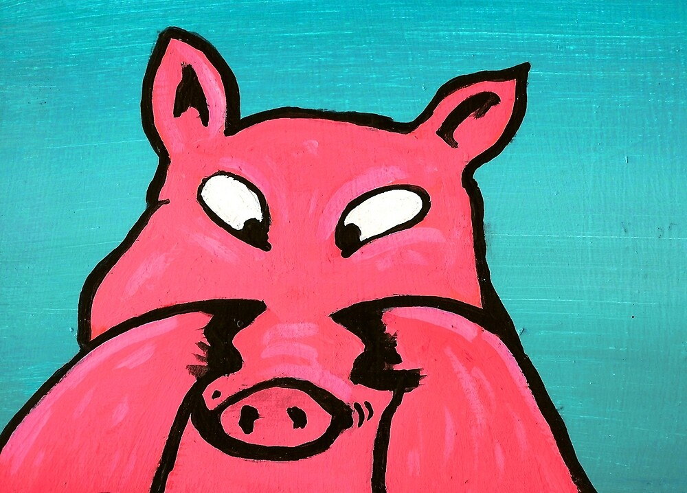 PIG WITH FLOATING SAUSAGE by paulvolker
