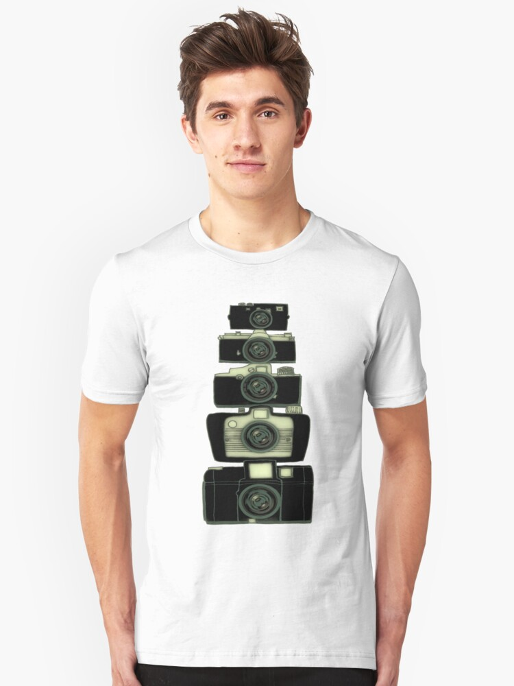 Towering cameras  Unisex T-Shirt Front