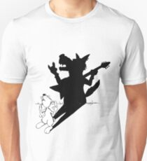 The rabbit plays air guitar Unisex T-Shirt