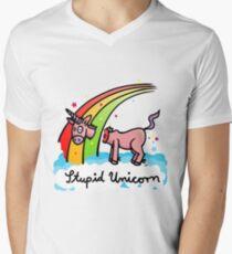 The stupid unicorn loses his head Men's V-Neck T-Shirt