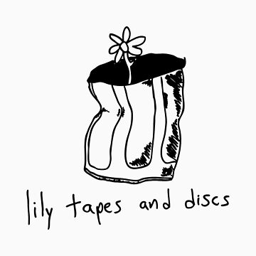 lily tapes & discs sticker by blovell