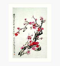 Chinese painting plum Art Print