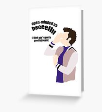 Open-minded as Helllll Greeting Card