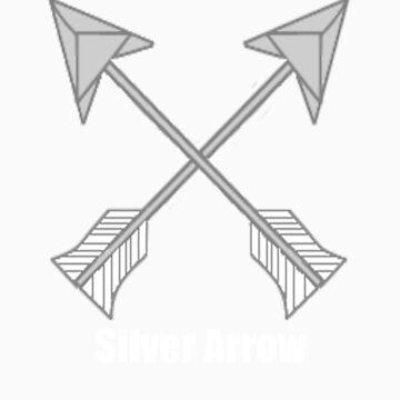 Silver Arrow cutie mark by stayoutofmyshed