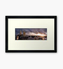 Truro cathedral at sunset Framed Print