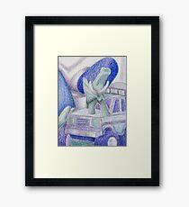 Shades Of Blue Still Life Framed Print