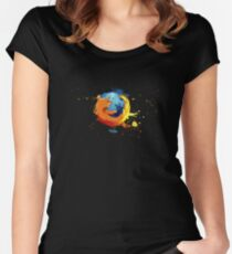 Firefox - Mozilla Women's Fitted Scoop T-Shirt