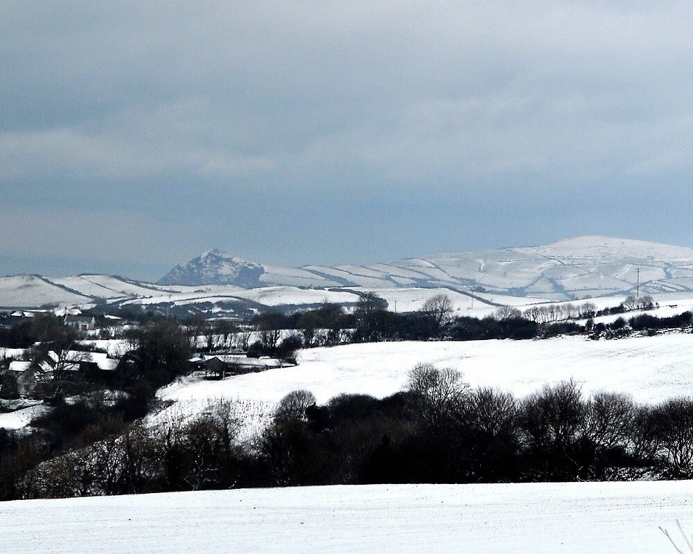 Winter Snows over Devons Hills by Andrew  Bailey