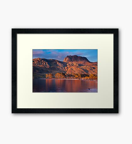 Slioch from Loch Maree, Scotland. Framed Print